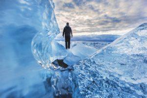Går på is